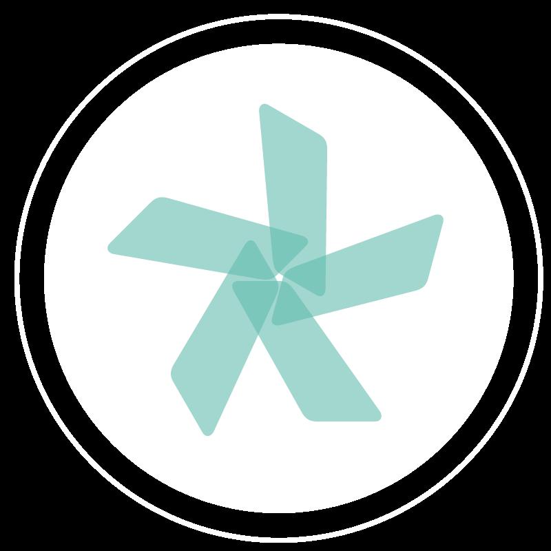 illustrazione di logo generico a forma di asterisco
