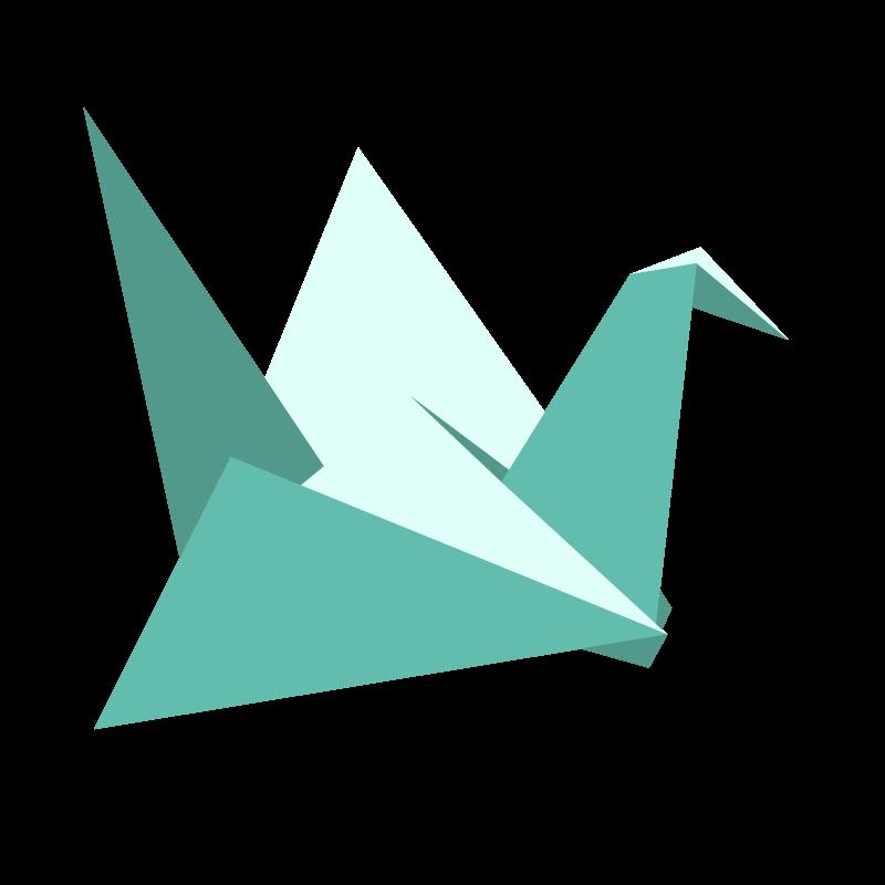 illustrazione di un cigno origami