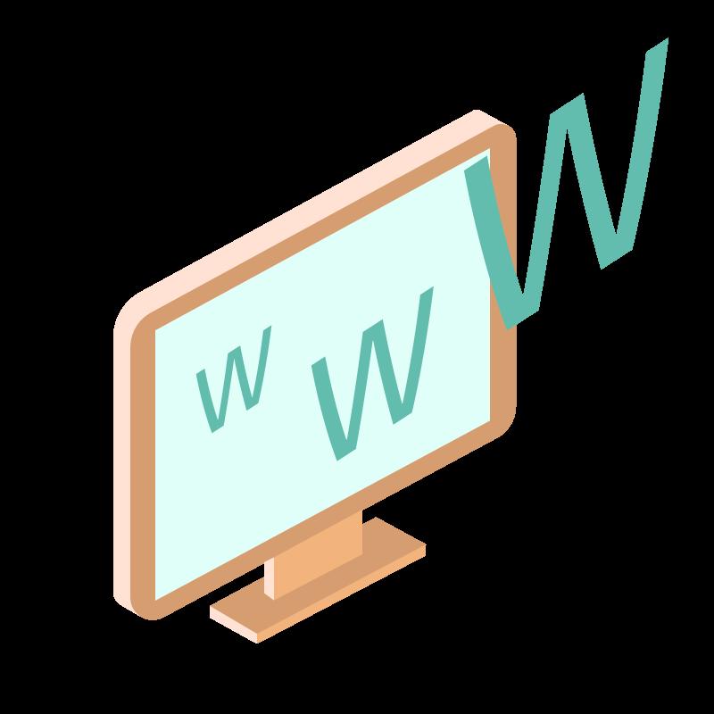 illustrazione di un monitor dal quale volano via tre w come fossero gabbiani