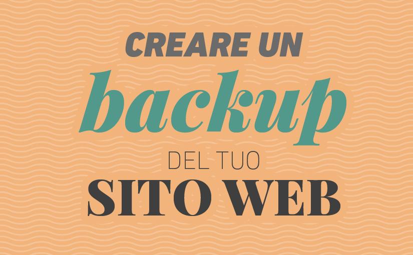 creare backup sito web - WordPress